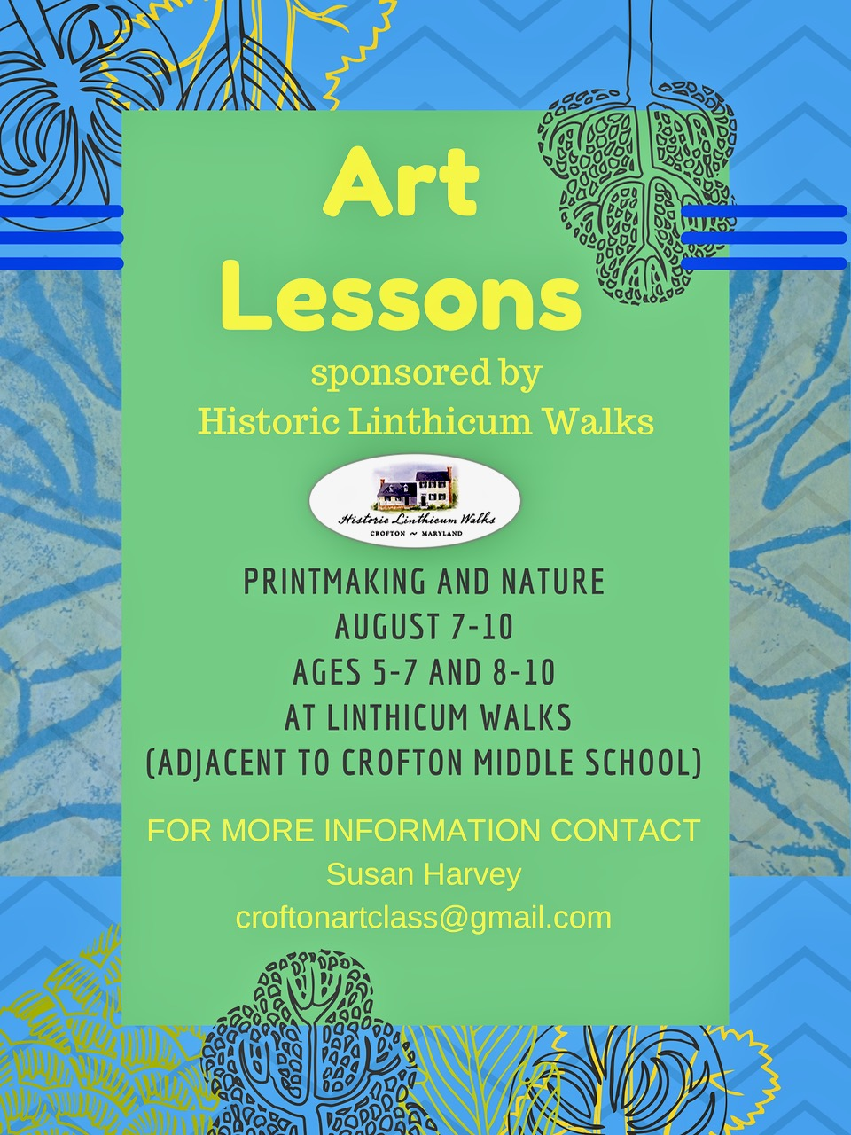 Printing and Nature Art Classes for Children
